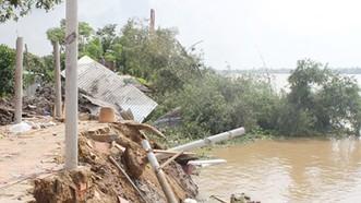 Sạt lở đang là nỗi lo của các tỉnh  ĐBSCL, nhất là mùa mưa lũ hiện nay