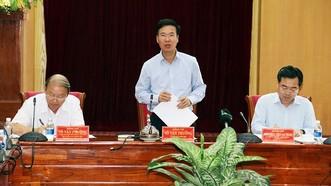 Đồng chí Võ Văn Thưởng làm việc với tỉnh Kiên Giang