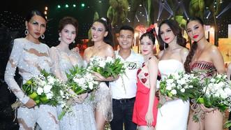 """Dàn sao đình đám Phạm Hương, Hương Giang, Ngọc Trinh xuất hiện trong show thời trang """"Into the dark"""""""