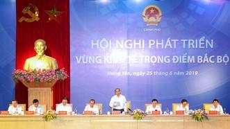 Thủ tướng Nguyễn Xuân Phúc Hội nghị ngày 25-6. Ảnh: VGP