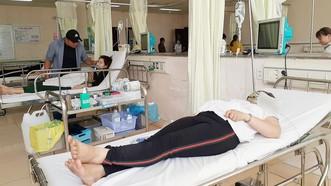 Công nhân bị ngộ độc khí amoniac cấp cứu tại Bệnh viện Bà Rịa