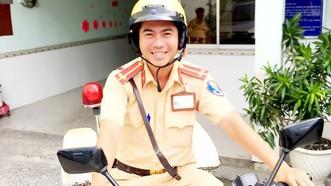 蘇煌盛中尉的友善笑容。