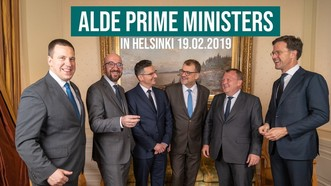 歐洲6國政府首腦19日在芬蘭首都赫爾辛基舉行會晤,呼籲在全球問題上促進多邊主義。(圖源:Keskusta)