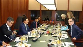 越德兩國外長舉行會談。(圖源:越通社)