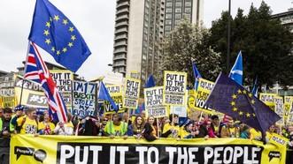 """英爆發大規模反""""脫歐""""遊行示威。 (圖源:互聯網)"""