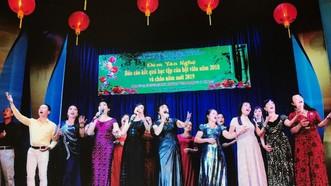 長青文藝俱樂部活動表演。