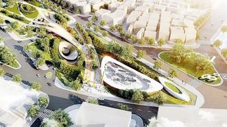 """Lava建築有限責任公司的""""九·二三""""公園C區總體配景,此方案榮獲第二獎。"""