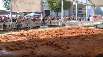 這塊超級雞排有70平方米大。(圖源:互聯網)