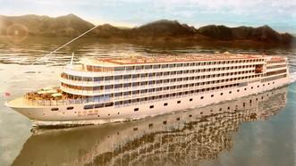 """乘坐豪華""""世紀榮耀""""號遊覽中國長江三峽美景。"""