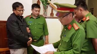 Cơ quan điều tra đọc lệnh bắt tạm giam đối với Ngô Minh Sơn