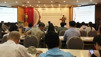 Hội thảo sáng 20-6 về tình hình mua sắm, cung ứng đồ gỗ trong khu vực công.