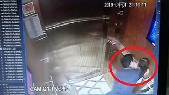 Hình ảnh vụ việc Nguyễn Hữu Linh sàm sỡ bé gái trong thang máy