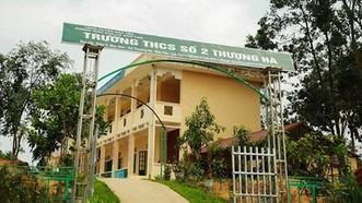 Trường THCS số 2 Thượng Hà nơi giáo viên Nguyễn Việt Anh công tác