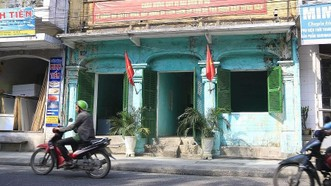 Mặt trước di tích trụ sở tòa soạn báo Tiếng Dân (193 Huỳnh Thúc Kháng, TP Huế) hiện tại