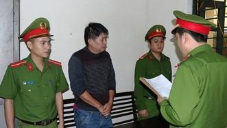 Phan Văn Lĩnh tại cơ quan Công an. Ảnh Công an Hà Tĩnh cung cấp