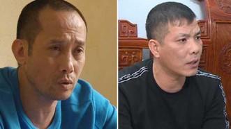 Nguyễn Anh Tuấn và Nguyễn Ngọc Tuyên (từ trái qua phải) vừa bị lực lượng công an bắt giữ