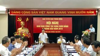 Đồng chí Võ Văn Thưởng phát biểu tại Hội nghị giao ban công tác khoa giáo của Đảng. Ảnh: WWW.DANGCONGSAN.VN