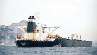 Tàu Grace 1 neo đậu ở Gibralta