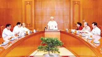 Tổng Bí thư, Chủ tịch nước Nguyễn Phú Trọng,  Trưởng Tiểu ban Nhân sự Đại hội XIII của Đảng phát biểu tại cuộc họp. Ảnh: TTXVN
