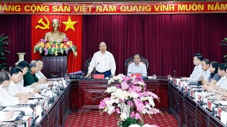 Thủ tướng Nguyễn Xuân Phúc phát biểu tại buổi làm việc với lãnh đạo chủ chốt tỉnh Bắc Kạn. Ảnh: TTXVN