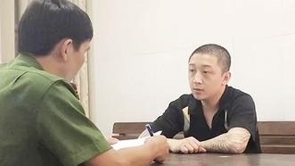 Nguyễn Thanh Trung tại cơ quan điều tra. Ảnh: CQĐT