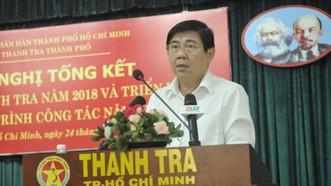 Chủ tịch UBND TPHCM Nguyễn Thành Phong phát biểu tại hội nghị