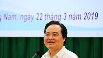 Bộ trưởng Bộ GD-ĐT làm việc với ngành GD-ĐT Quảng Nam