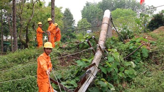 Khắc phục sự cố đường dây cấp điện cho hơn 4000 hộ dân vùng cao Quảng Nam