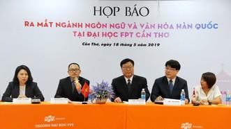 Họp báo giới thiệu ngành học ngôn ngữ và văn hóa Hàn Quốc đầu tiên tại ĐH FPT Cần Thơ