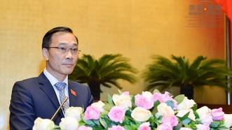 Chủ nhiệm Ủy ban Kinh tế Vũ Hồng Thanh báo cáo tiếp thu, chỉnh lý dự thảo Luật Quy hoạch