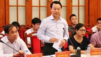 Ông Đỗ Đức Duy - Phó Bí thư Tỉnh ủy, Chủ tịch UBND tỉnh Yên Bái phát biểu