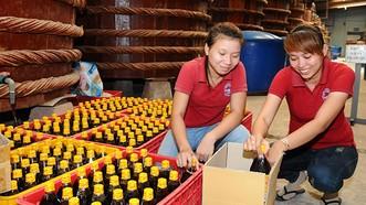Hiện nay, có hơn 50 doanh nghiệp sản xuất nước mắm trên địa bàn huyện đảo Phú Quốc. Ảnh: Công Thương