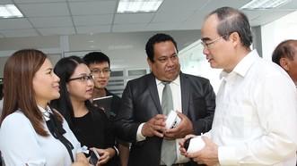Đồng chí Nguyễn Thiện Nhân thăm Ban Giám đốc Dự án Saigon Silicon City