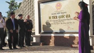 Địa điểm lưu niệm Trung đoàn Tây Tiến được xếp hạng Di tích quốc gia