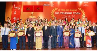 Giải thưởng Võ Trường Toản lần thứ 20 năm 2017: Tôn vinh 40 thầy, cô giáo tiêu biểu của TPHCM
