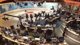 Trong đài truyền hình Al-Jazeera ở Doha, Qatar. Ảnh: AP