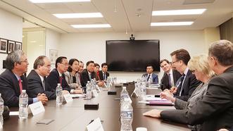 Bí thư Thành ủy TPHCM Nguyễn Thiện Nhân gặp gỡ các nhà đầu tư Hoa Kỳ
