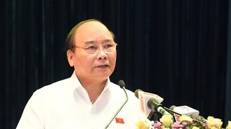 Thủ tướng Nguyễn Xuân Phúc nhấn mạnh, bảo đảm ANKT phải gắn liền với bảo đảm an ninh chính trị nội bộ, bảo vệ cán bộ, bảo vệ đảng viên, phòng chống tham nhũng, tiêu cực. Ảnh: VGP