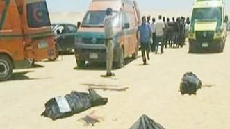 Hiện trường vụ tấn công đoàn xe chờ người Cơ đốc giáo ở tỉnh Minya, Ai Câp. Ảnh: NILE NEWS
