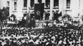 Mít tinh phát động khởi nghĩa giành chính quyền tại Nhà hát lớn Hà Nội ngày 19-8-1945