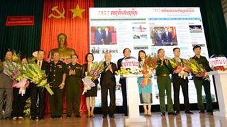 Báo Quân đội nhân dân điện tử ra mắt phiên bản tiếng Lào và tiếng Khmer