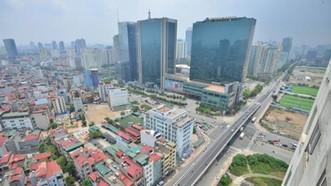Nút giao Trần Duy Hưng - Hoàng Minh Giám - Nguyễn Chánh (Hà Nội) nhìn từ trên cao. Ảnh: LÃ ANH