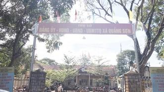 UBND xã Quảng Sơn nơi ông Hiếu công tác