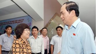 Đồng chí Trần Đại Quang tiếp xúc cử tri