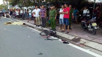 Hiện trường vụ tai nạn khiến người đàn ông đi tập thể dục bằng xe đạp tử vong tại chỗ