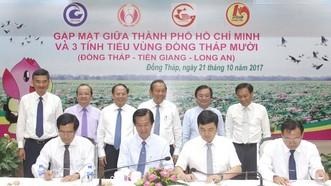 TPHCM và các tỉnh trong tiểu vùng Đồng Tháp Mười ký hợp tác về du lịch