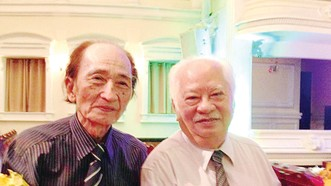 GS.TS. Nhạc sĩ Nguyễn Văn Nam và PGS. Nhạc sĩ Ca Lê Thuần (Ảnh chụp năm 2015)