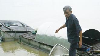 Chiếc lồng bè nuôi cá bằng inox do ông Trần Kim Sanh (Quảng Ngãi) sáng chế
