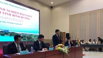 圖為平陽省計劃與投資廳最近舉行的平陽省台灣企業座談會一隅。(圖源:互聯網)