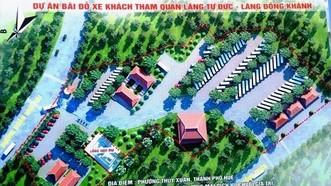 Tổng thể Dự án Bãi đỗ xe khách tham quan lăng Tự Đức và lăng Đồng Khánh ở phường Thủy Xuân, TP Huế.